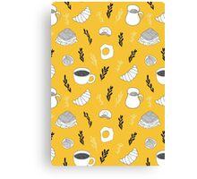 Yellow breakfast Canvas Print