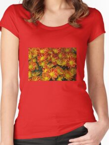Mums - Red & Yellow Women's Fitted Scoop T-Shirt