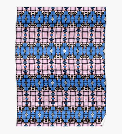 Strong woven pink and blue squares. Poster