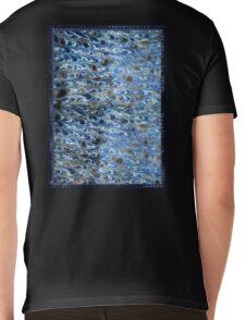marbled paper - ink blue sea Mens V-Neck T-Shirt