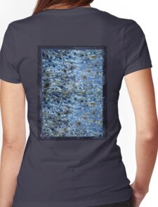 marbled paper - ink blue sea Womens Fitted T-Shirt