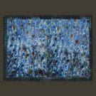 marbled paper - ink blue sea by dennis william gaylor