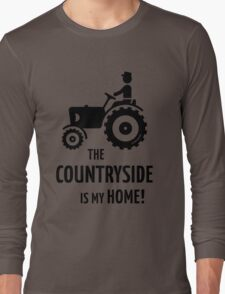 The Countryside Is My Home! (Farmer With Tractor) Long Sleeve T-Shirt
