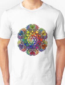 Heart Rainbow Mandala  T-Shirt