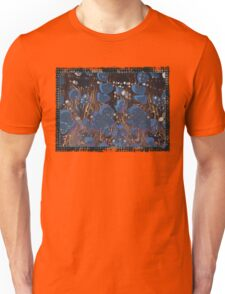 marbled paper - blue mushroom 2 layer Unisex T-Shirt