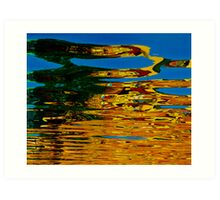 Colorful water reflection Art Print