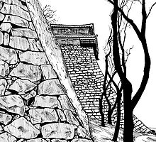 Matsuyama castle, Japan by Sundayink