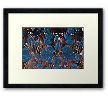 marbled paper - blue mushroom 2 layer Framed Print