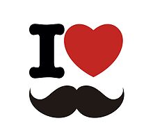 I Love Mustaches by Tattoo Rebels The Best Shop