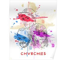 CHVRCHES ILLUSTRATION Poster