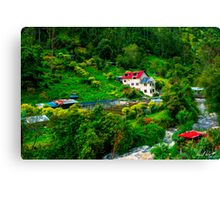 Andean Trout Farm - Oil Canvas Print