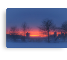 Soft glow of winter's fire Canvas Print