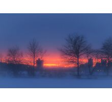 Soft glow of winter's fire Photographic Print