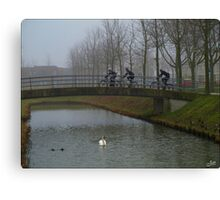 Cyclists.. Canvas Print