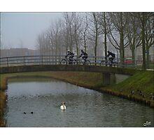 Cyclists.. Photographic Print