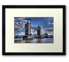 Tower Bridge and rings Framed Print