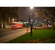 Catch that bus... Photographic Print