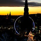 Edinburgh from Balmoral hotel rooftop by bigwhisper76