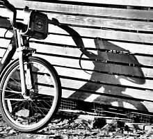A bicycle and shadow  by RayaCottrell