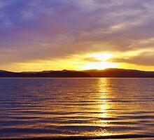 Pyramid Lake Sunrise by SB  Sullivan