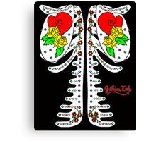 Sugar Skeleton (Back) Canvas Print