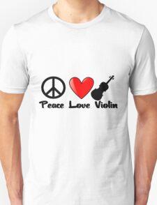 Peace, Love, Violin T-Shirt