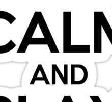 Keep Calm and Play On Violin Sticker