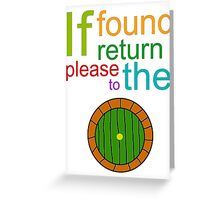 If Found Please Return to the Shire Greeting Card