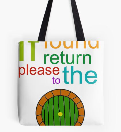 If Found Please Return to the Shire Tote Bag