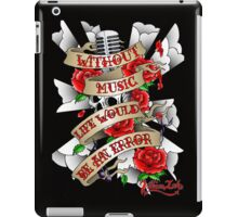 Without Music iPad Case/Skin