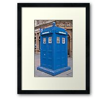 Police Phone Box  Glasgow Framed Print