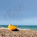Boat on coast  by Benjamin Gelman