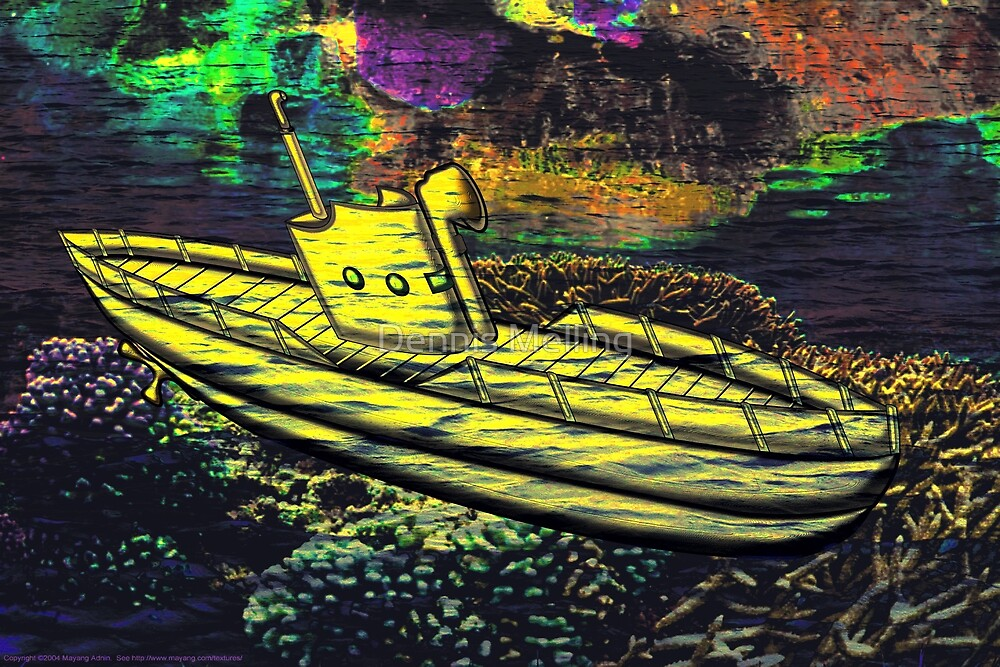 A Yellow Submarine in Mid Ocean by Dennis Melling