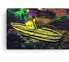 A Yellow Submarine in Mid Ocean Canvas Print
