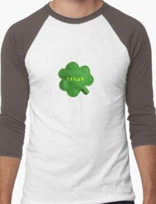 Saint Patrick's Day lucky green clover  Men's Baseball ¾ T-Shirt