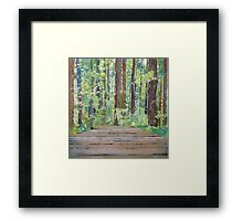 Following your own path, watercolor and mixed media on paper mounted on board Framed Print