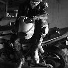self portrait with bike 1 by Porridgewog32
