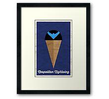 Neapolitan Nightwing Framed Print
