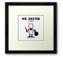 Mr Dexter Framed Print