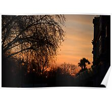Red sky at night in Hyde Park Poster