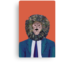 Mr. Lion's portrait Canvas Print