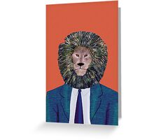Mr. Lion's portrait Greeting Card
