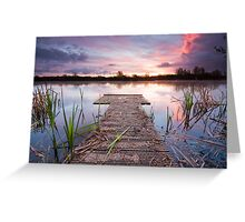 Jetty sunrise Greeting Card