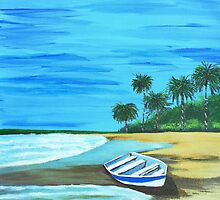 Boat on the beach  by maggie326