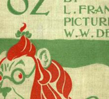 Vintage Wizard Of Oz Book Cover Sticker