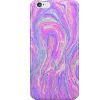 Pink Blue Abstract iPhone Case/Skin