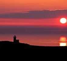 Belle tout lighthouse silhouette by willgudgeon