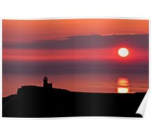 Belle tout lighthouse silhouette Poster