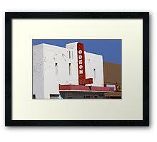 Odeon Theater, Tucumcari, New Mexico Framed Print