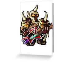 Pixel Pentakill Mordekaiser Greeting Card